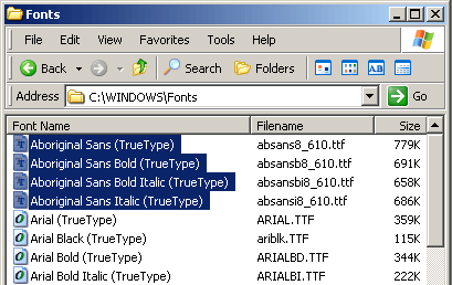 Installing fonts on Windows